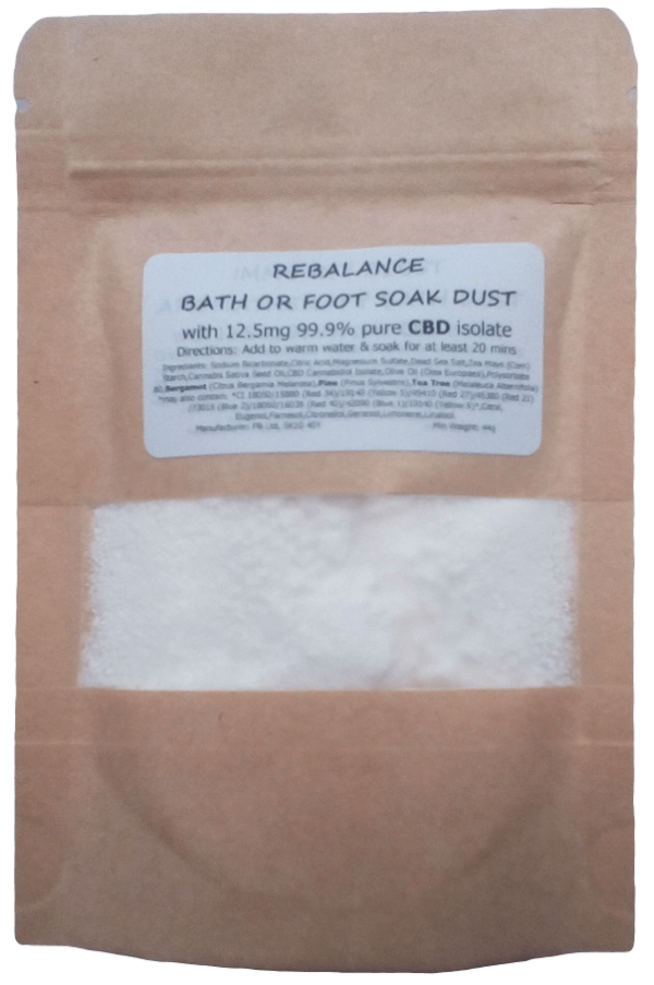 Rebalance Essential Oil Aromatherapy Fizzy Dust Soak with 12.5mg CBD